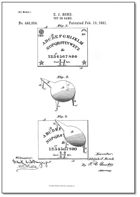 Ouija Patent Cover