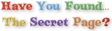 Have You Found Secret Page